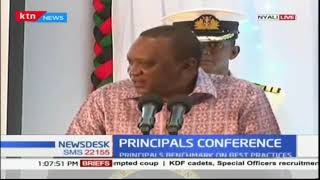 President Uhuru Kenyatta addresses the African Confederation of Principals