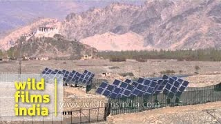 Solar energy farm near Stakna in Ladakh
