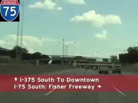 Detroit Michigan Freeway Tour