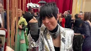 Diane Warren shows off her broken arm at Oscars 2020