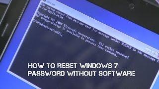 How 2s - How to bypass Windows 7 Login / Forgotten Password Reset