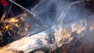 На повороте в Михайловку сгорел автомобиль