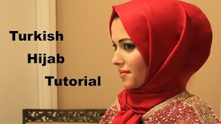 turkish hijabtutorial in less than a minute طريقة لف الحجاب التركي
