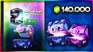 MEGA KNIGHT 3 LVL - OPENING ZA 1000€ - CLASH ROYALE POLSKA
