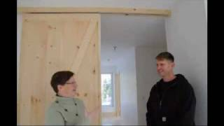 Barn Doors Save Space In A Small House