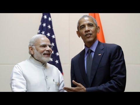 PM Modi Meets US President Barack Obama in Laos