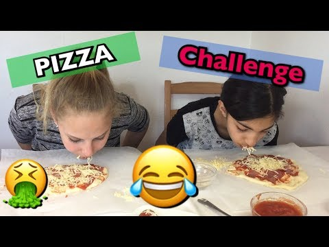 ❌NO HAND❌ PIZZA 🍕 CHALLENGE 😆 mit Claudia 😍 Lea Loves Freaky