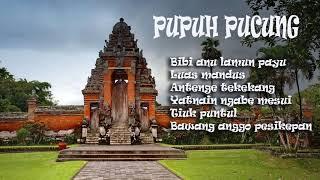 Pupuh Pucung Bali - Bibi Anu Lirik