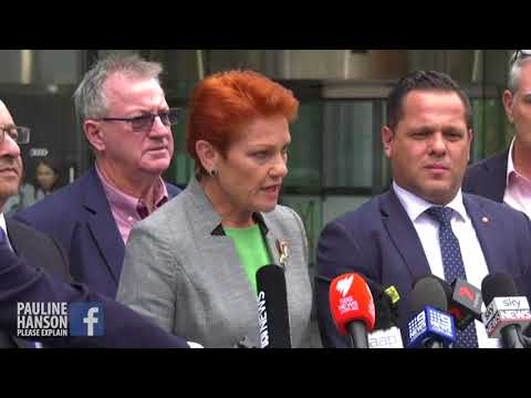 Pauline Hanson's Press Conference at Melbourne Royal Commission into Banks