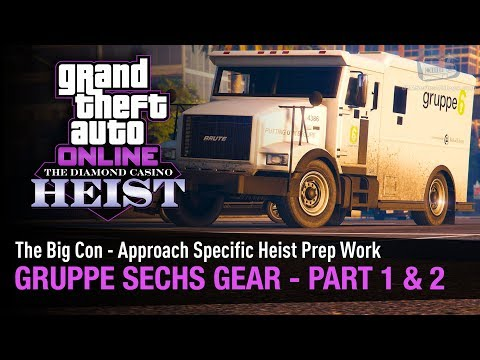 GTA Online The Diamond Casino Heist - Gruppe Sechs Gear Part 1 & 2 [The Big Con - Solo]