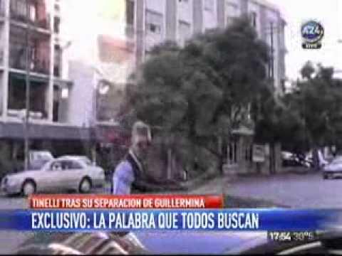 Mirá la reacción de Tinelli cuando le preguntaron sobre su separación de Guillermina Valdés