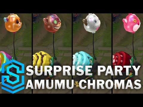 Surprise Party Amumu Chroma Skins