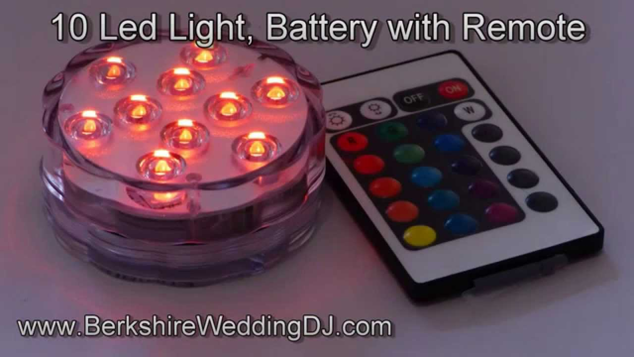 10 Led Submersible Battery Powered Light With Remote Youtube