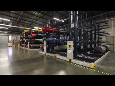 Rolling Cantilever Pallet Racking Condenses Warehouse Storage