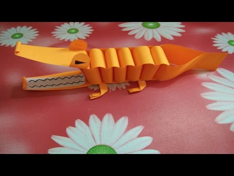 How To Make Paper Crocodile   Easy Paper Crafts For Kids  