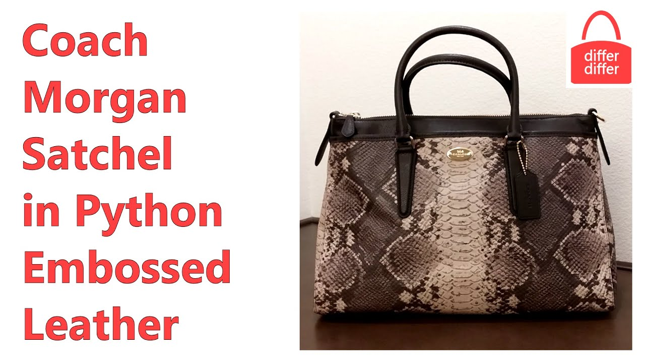 Coach Morgan Satchel in Python Embossed Leather 35881