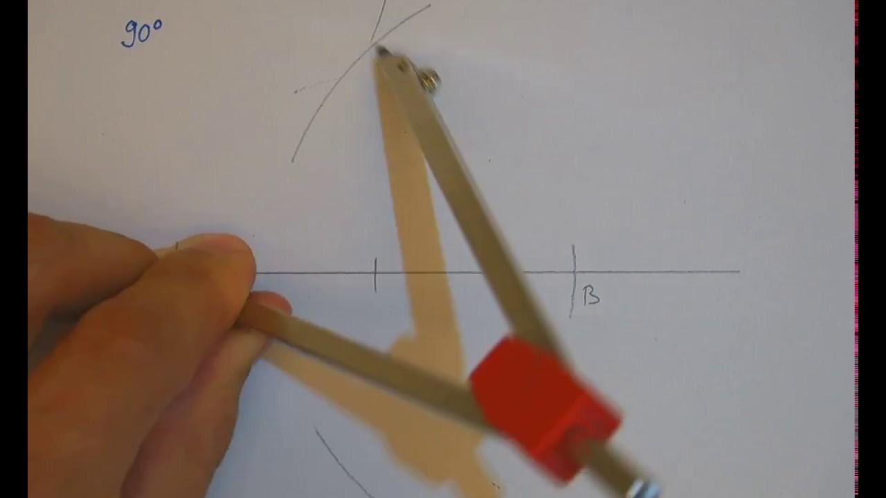 winkelkonstruktionen mit dem zirkel - youtube