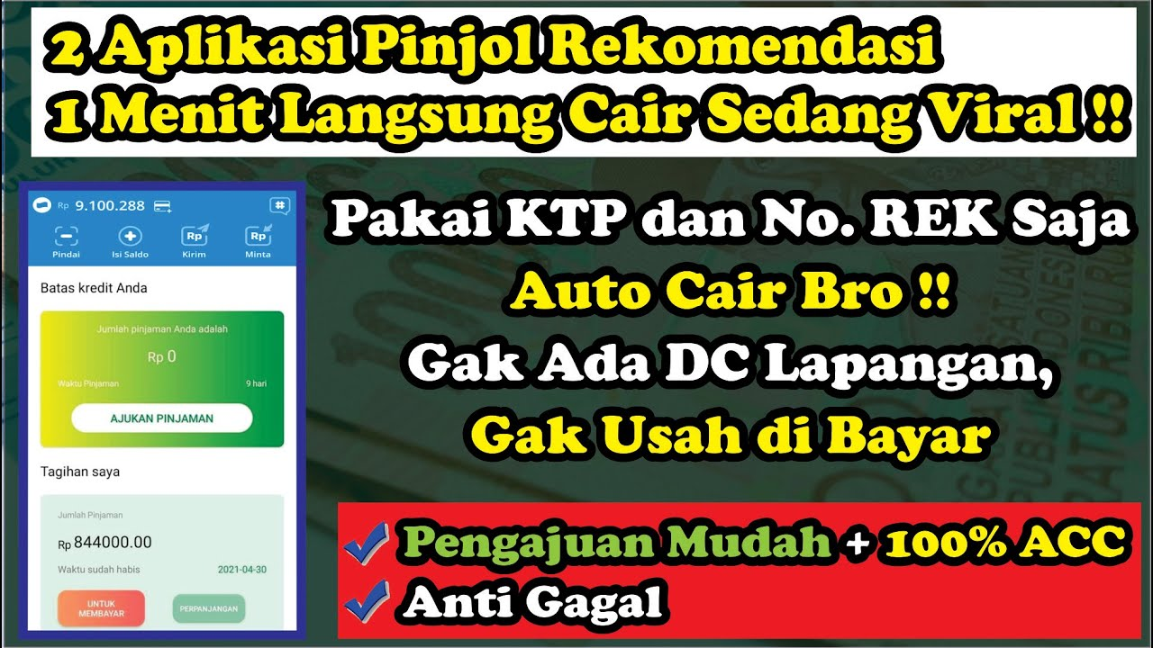 CAIR 3 JUTA DALAM 1 MENIT ? 2 Aplikasi Pinjaman Online ...