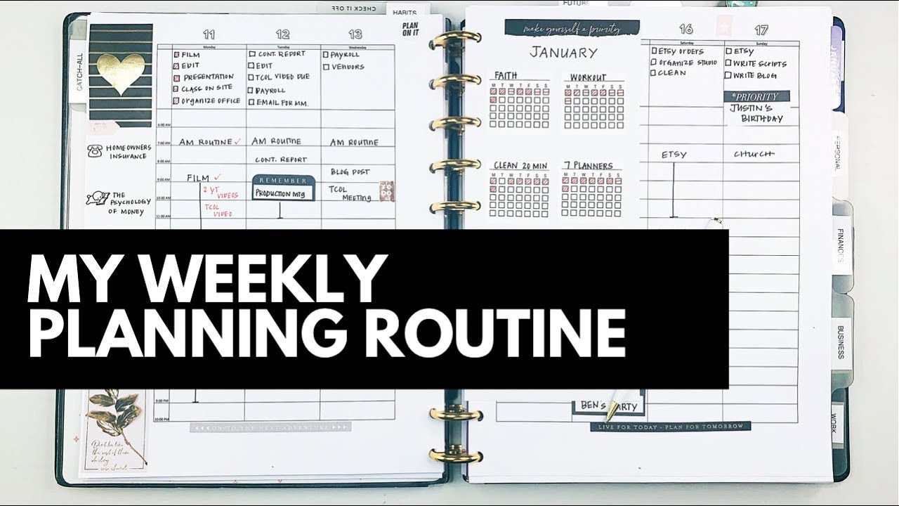 My Weekly Planning Routine