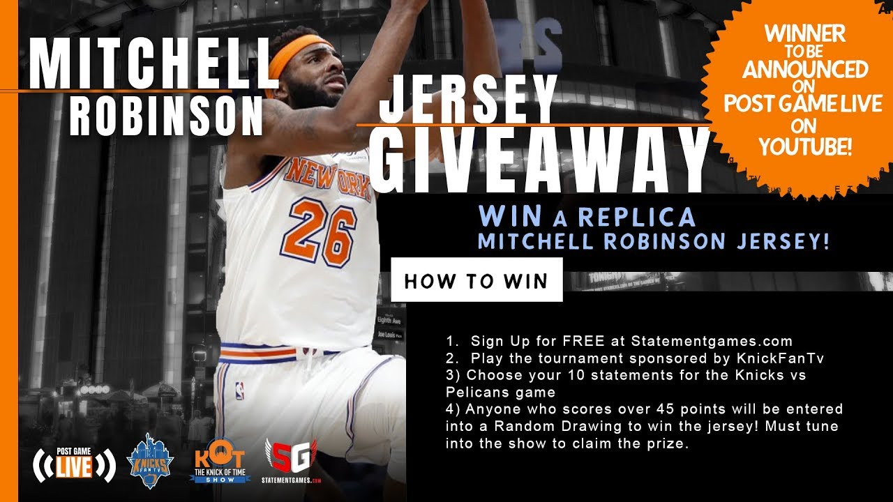 check out 7e823 3c115 New York Knicks News: WIN A Replica Mitchell Robinson Jersey TONIGHT!