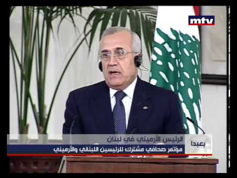Press Conference - Armenian President Visiting Lebanon