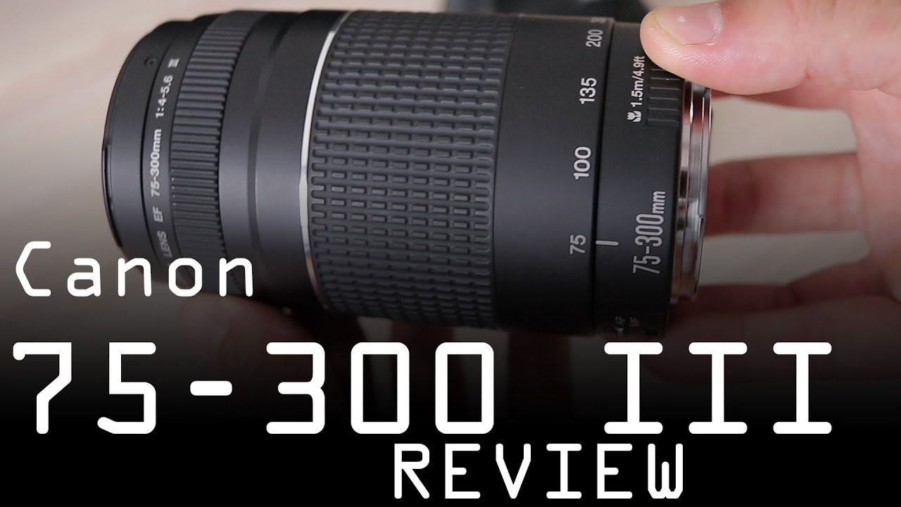 3269c7ad84 Canon EF 75-300mm f/4-5.6 III review - worst Canon lens ever? - YouTube