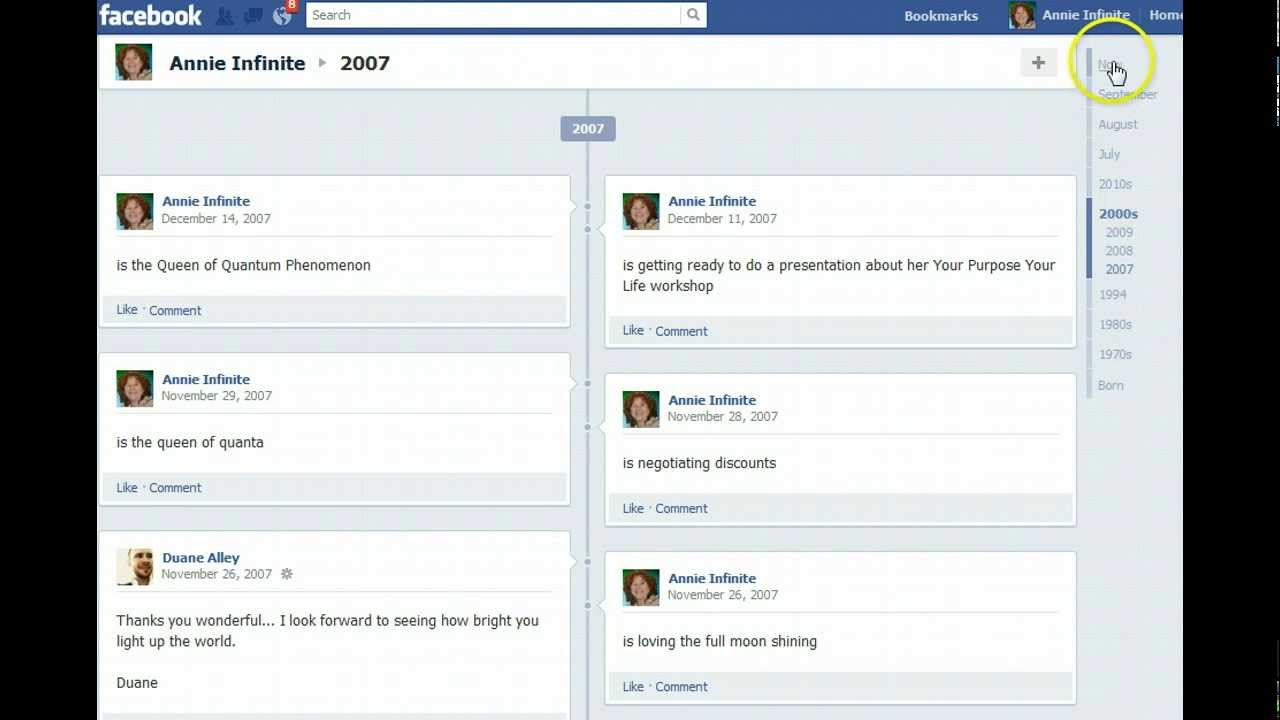 Facebook Timeline History Archive - YouTube