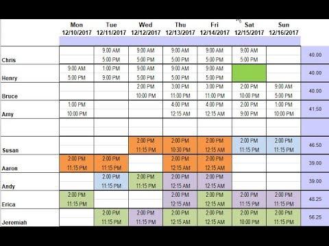 Demo of Restaurant Schedule Template using Excel - YouTube