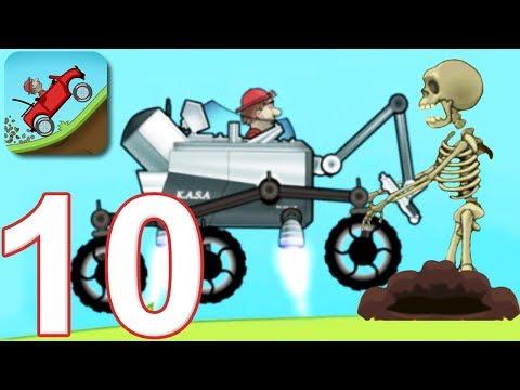 HILL CLIMB RACING - Walkthrough Gameplay Part 10 - NEW CAR MOONLANDER (iOS Android)