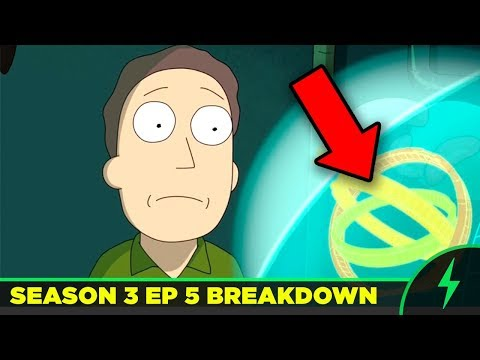 """Rick and Morty 3x05 """"The Whirly Dirly Conspiracy"""" - Every Joke You Missed!"""