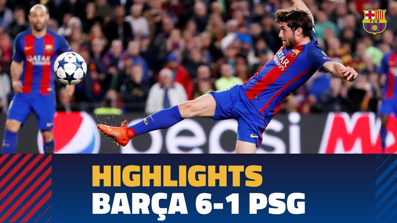 FC BARCELONA 6-1 PSG | Match highlights