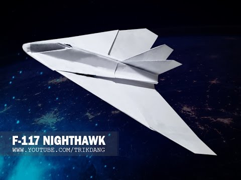 Papercraft Paper airplane Instructions: How to make a paper JET FIGHTER that FLIES flies | Nighthawk F-117A