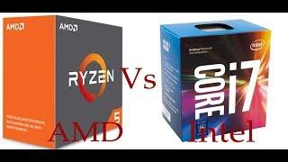 AMD Ryzen 5 1600 Vs Intel Core i7 7700k CPU-Z Stress Test Benchmark