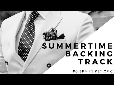 Summertime backing track slow - 90bpm