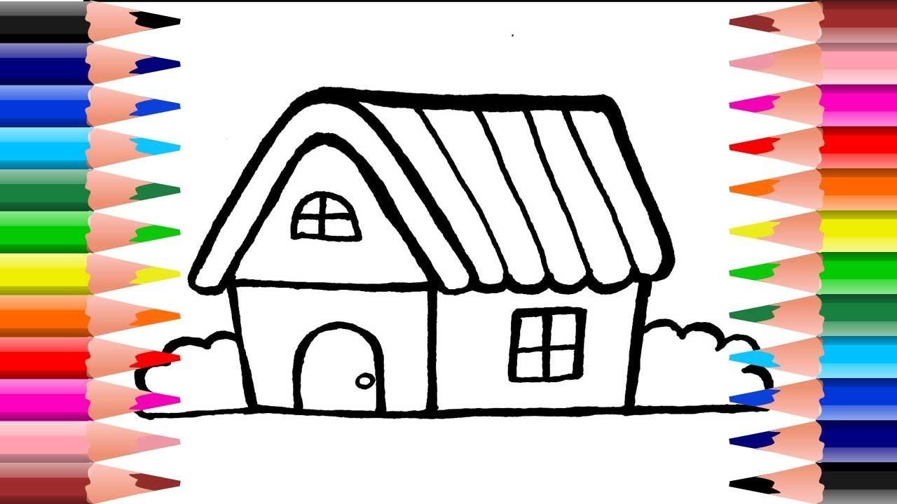 วาดรูป ระบายสี บ้านหลังเล็ก น่ารักอย่างง่ายๆ