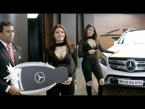 H0T sherlyn chopra bought her new dream car mercedes