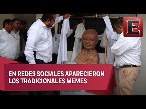 Busto de Benito Juárez en SLP genera burlas
