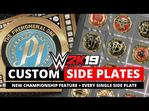 WWE 2K19 *NEW* Custom Side Plate Feature (All Side Plates + Custom Assignment)