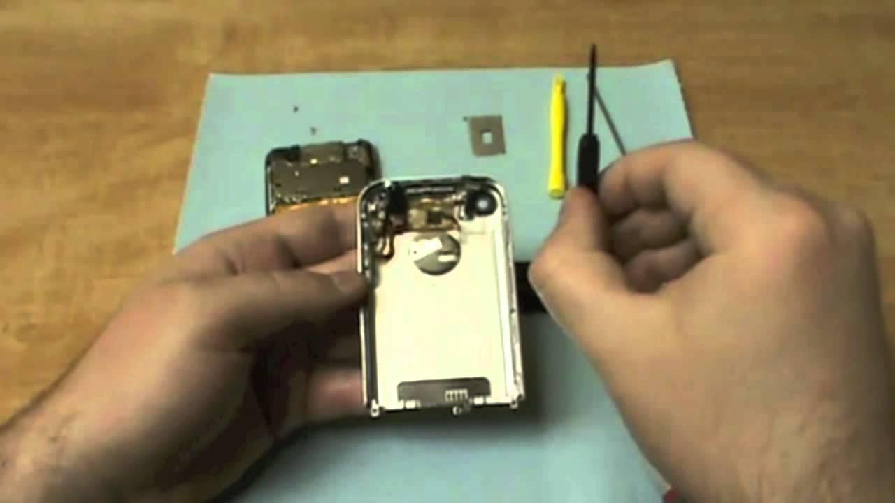 simple how to 2g apple iphone headphone jack repair video youtube. Black Bedroom Furniture Sets. Home Design Ideas