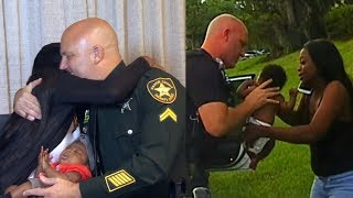 Mom Hugs Florida Cop Who Saved Her 3-Month-Old's Life