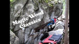 Aidan Roberts climbing in Magic Wood, Switzerland