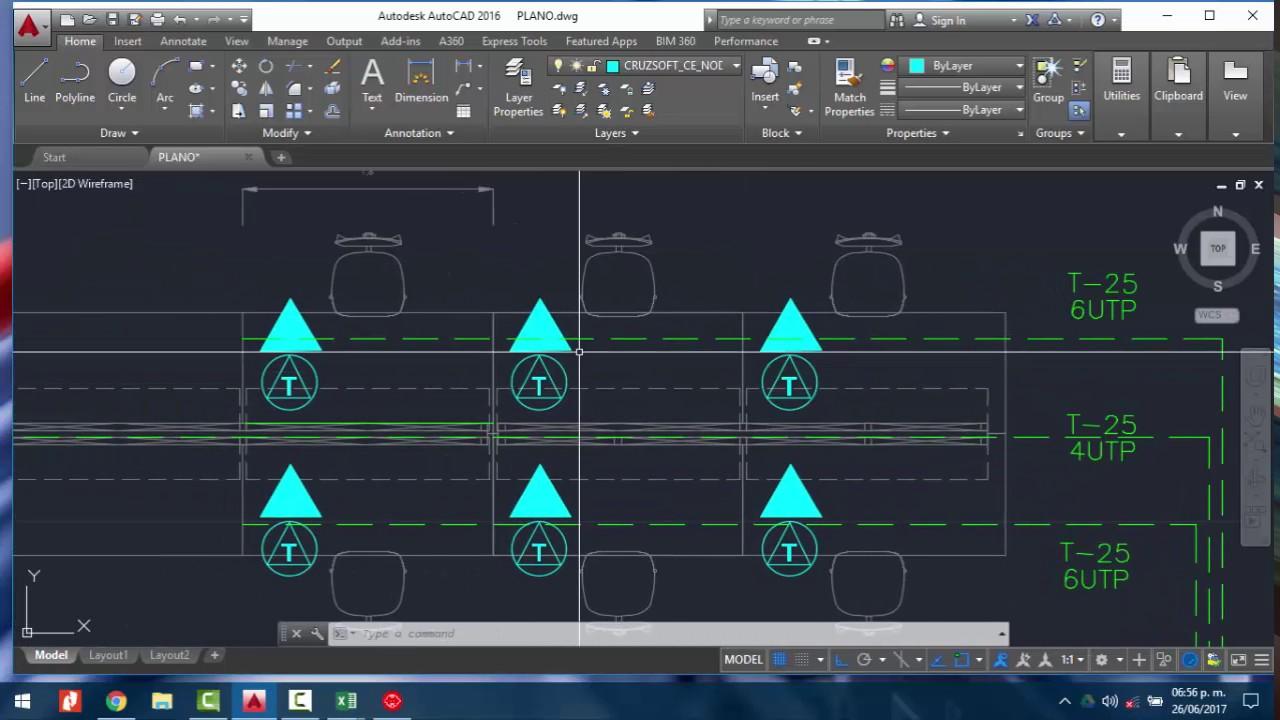 ¿Como iniciar un diseño de Cableado Estructurado en CAD