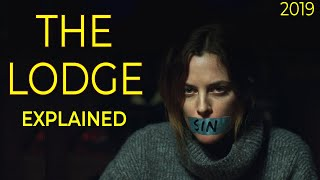 The Lodge 2019 Movie Explained in Hindi | The Lodge Movie Ending Explain हिंदी मे Cult of Sacrifice