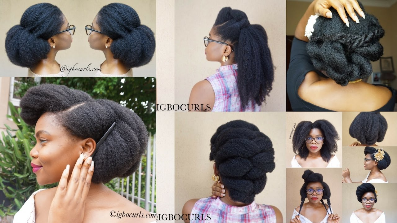 best natural hairstyles on black 4c natural hair (08) - youtube