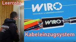 Kabeleinzugsystem von WIRO / Leitung durch Leerrohr ziehen