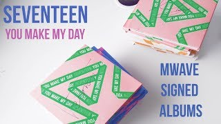 [UNBOXING] Seventeen (세븐틴) You Make My Day Mwave Signed Albums