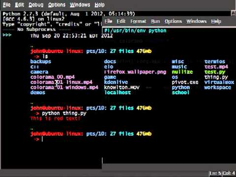 Python Colorama 01 Init