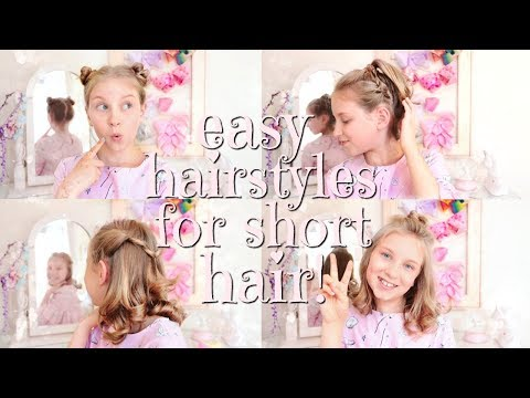 I DONATED MY HAIR! EASY HAIRSTYLES FOR SHORT HAIR!