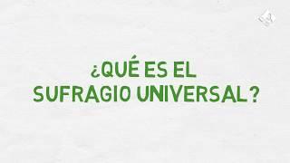 ¿Qué es el sufragio universal?