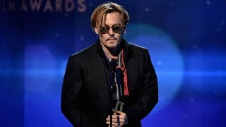 Insanely Intoxicated Johnny Depp Presents Award